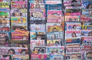 Magazines rack