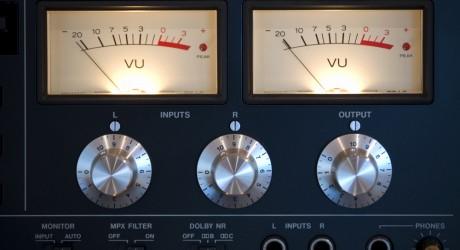 Radio studio dials