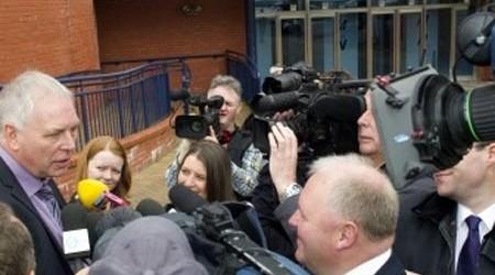 Media 'scrum'