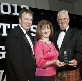 TESS being awarded Scottish Mag of the Year 2012, Oct 25 2012