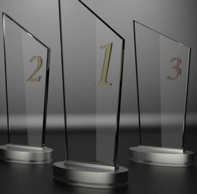 Media awards trophies (shutterstock_122147422)