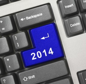 Computer keyboard with 2014 key (iStock)