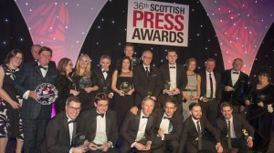 16/04/15 RADISSON BLU - GLASGOW 36th Scottish Press Awards. winners