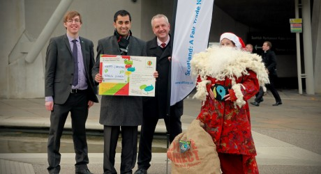 Tristan Humphries, Humza Yousaf MSP, Martin Rhodes and Father Christmas