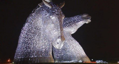 Kelpies White (c) Ben Williams, The Helix email size