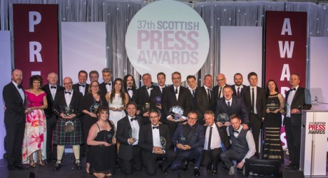 37th Scottish Press Awards at the Radisson Blu Hotel in Glasgow.