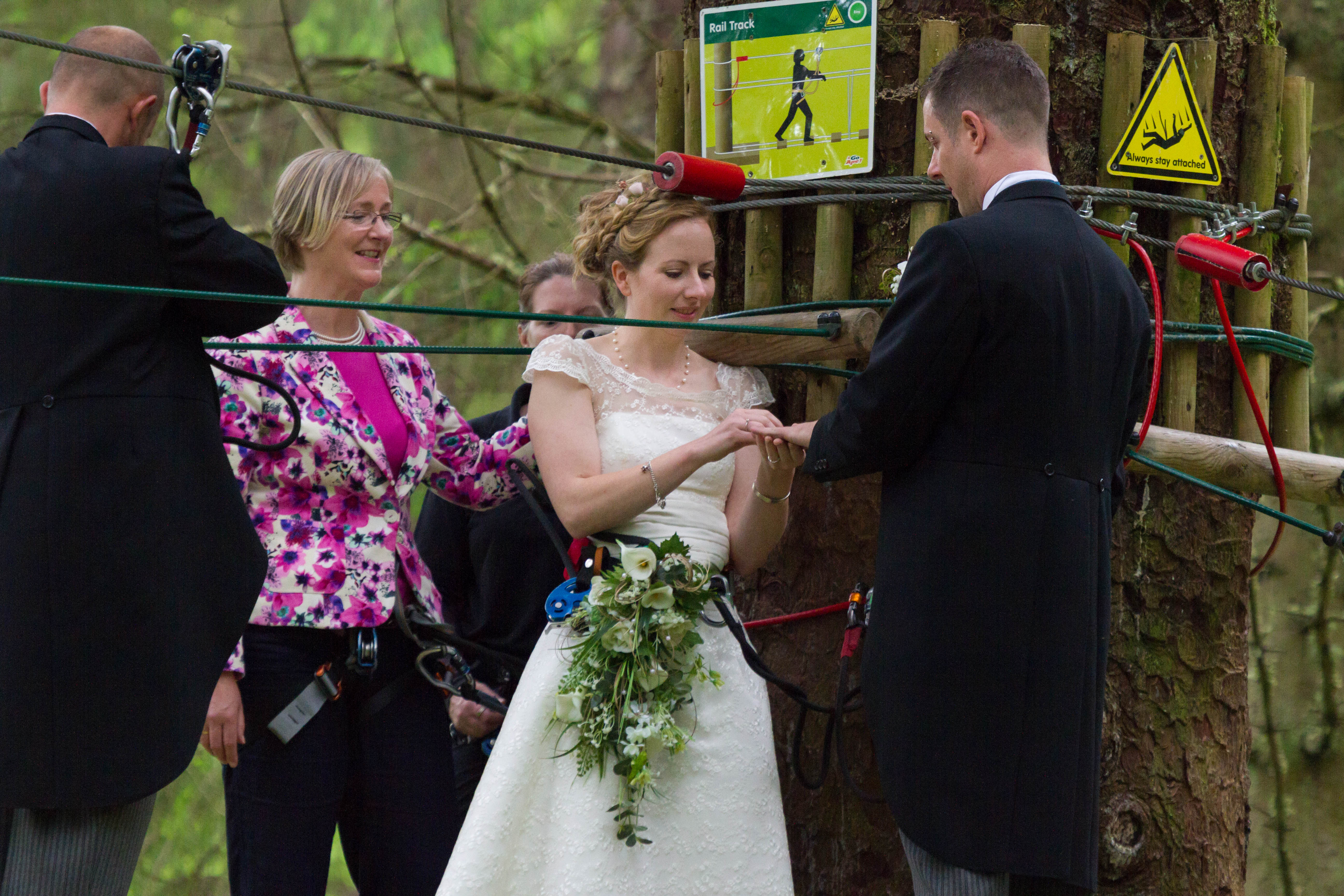 Media Release: Love is in the air with first treetop wedding at Go Ape