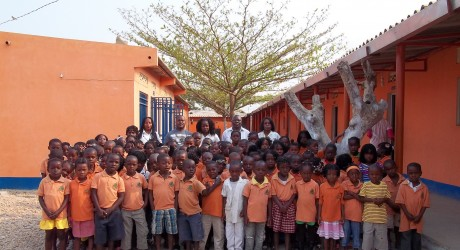 Angolan school pupils