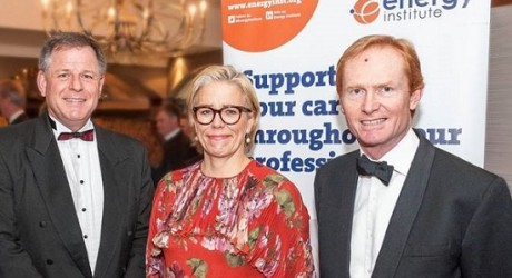 Nigel Bradburn, Maria Moraeus Hanssen & Mike Wagstaff, EI Dinner 2016 - Copy
