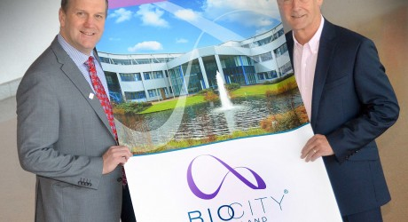 Fraser Black with Richard Cruse ProFactor Pharma at BioCity Scotland