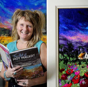 FREE PICTURE Moy Mackay Artist Felt Art Book Launch 02