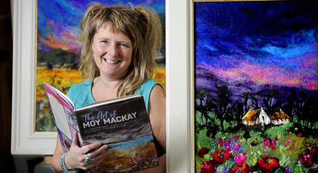 FREE PICTURE Moy Mackay Artist Felt Art Book Launch 02