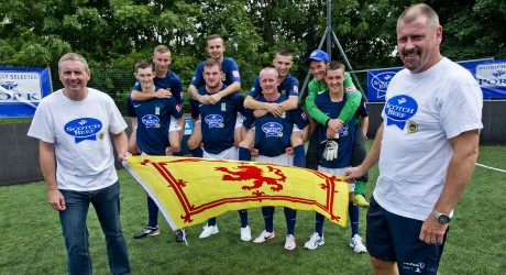 The Scottish team for the Homeless world cup
