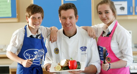 QMS chef Steve Craik at Largs Academy