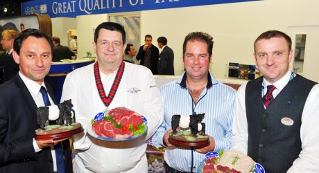 Chefs/butchers at food fair