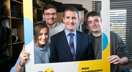 Justice Secretary Michael Matheson joins young filmmakers to announce over £1.7m awarded to creative and cultural activities for young people across Scotland