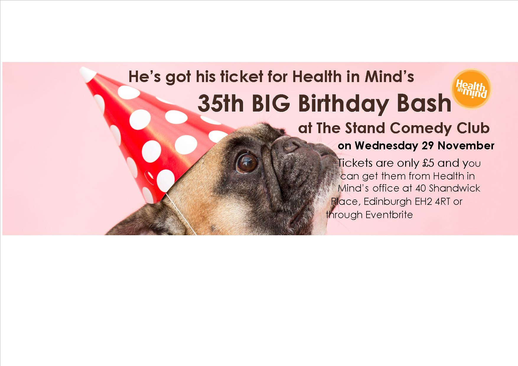 Media release: Charity celebrates anniversary with a Big Birthday Bash Comedy Night