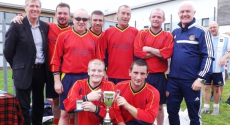 Choose Life Tournament 2014 Back-Kenny MacAskill, The Vennie-Tam McMurdo, Tom Heron, Willie Vass, Scott Peters, Jamie Plimmer, Ninian Cassidy-Front Stefan Heron, Stevie Robinson.