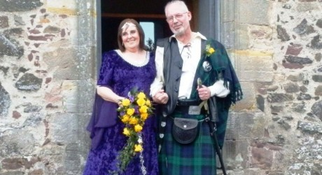 Jacqui and Gordon Peerless on their wedding day
