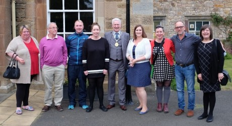 Orchard Centre Vols and staff at Volunteer Midlothian Awards June 2016