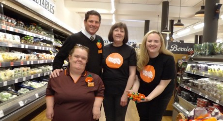Sainsburys Sainsburys C o Y blooms for the second year Jackie Fitzpatrick Rick Martin  Margaret Fox and Katherine Sellar 2