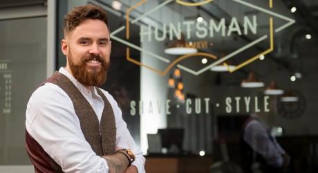 Huntsman PR images. Owner of Hunstman barbers, Kyle Ross.