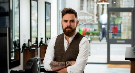 Huntsman PR images. Owner of Hunstman barbers, Kyle Ross.