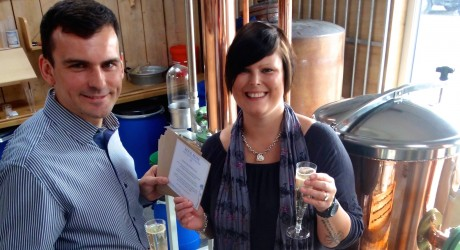 Martin Murray (Rock Rose Gin) and Michelle Russell (North Hop) 2