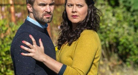 Actors Donald Ewen MacKinnon & Debbie Mackay who play characters Alasdair & Mairi