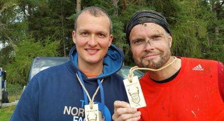 Calum Macaulay and Niall Iain MacDonald complete the Beast Race as part of Scotland's Canals on BBC ALBA