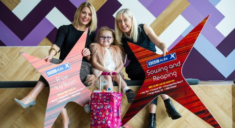 Fiona MacKenzie, Eilidh Duncan, 4, from Alloa, who has a life shortening illness and features in Home from Home and Broadcaster, Cathy MacDonald (1)