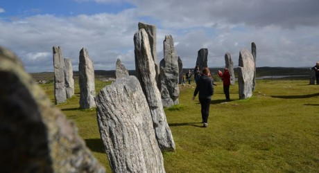 Full Circle -Touists at Calanais