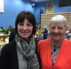 Left Wilma Stewart of Rosemarkie SWI and right Christina McGonigle