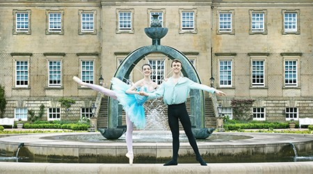AMS - Ballet dancers Hanna Eden and Jake Davies celebrate the launch of historic partnership with Dumfries House