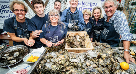 The Loch Ryan Oyster Fishery Team by Pete Robinson