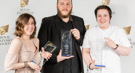 RTSStudentWinners001 - Aurora Gibson, James McAlpine and Marsaili Stewart-Skinner, winners of the craft awards