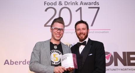 Innovation Award, Seb Jones Speyside Craft Brewery Ltd and Sponsor Malcolm Gunnyeon, MMS