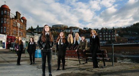 5th and 6th year pupils at Oban High School Photo Peter Dibdin
