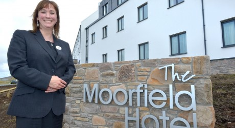 The Moorfield Hotel exterior and manager Ailsa Sangster (reduced)