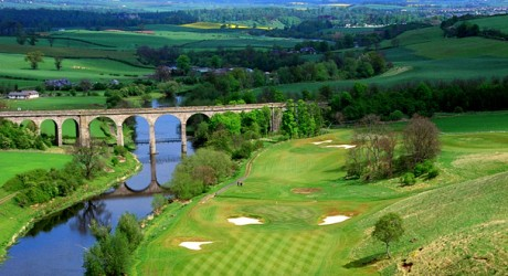 The signature hole at The Roxburghe Golf Club is the 14th, known as The Viaduct