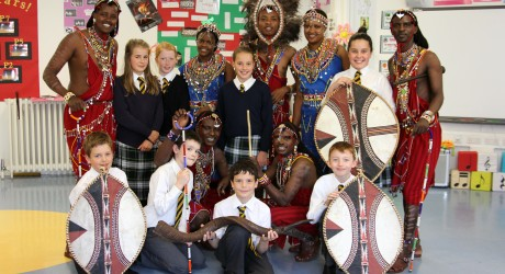 Osiligi Maasai Warriors visit Robert Gordon's College
