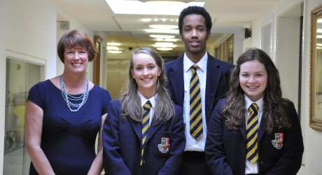 L-R Mrs Montgomery_Francesca Christie_Mohamed Elyas_Molly Scott