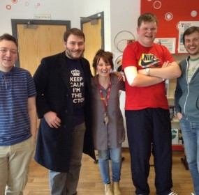 Donald Pirie, voiceover coach came to work with the young people at TCT Beatson Unit