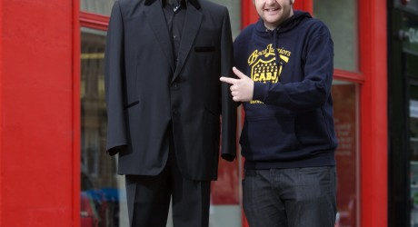 Kevin bridges donated his signature suit to Shelter Scotland - he wore it for his very first live arena tour