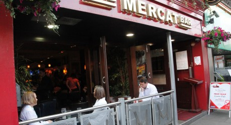 The Mercat Bar & Restaurant (with people) Outside