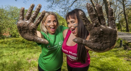 ScottishPower & Cancer Research UK photo call with Cat Cubie for Pretty Muddy event