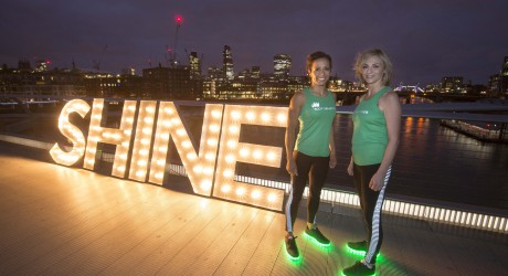 Double Olympic champion, Kelly Holmes, trains ScottishPower's Michelle Nicol to 'Shine' in run up to Cancer Research UK event 4