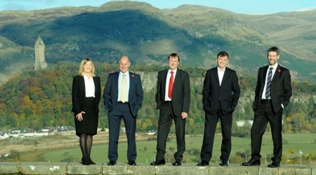 Ellen Waters, Robert Kerr, Alan Skilling, Greg Callan and Graeme Finnie