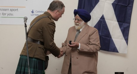 WORLD War Two veteran Darbara Singh Bhullar presented with a special veteran's medal by the British Army allmedia