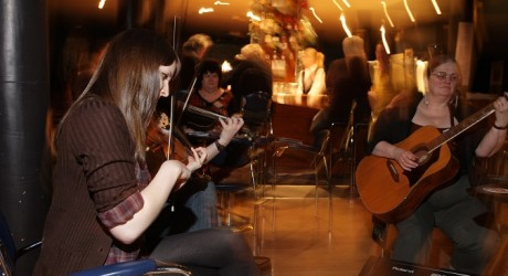 Photo of trad music session - Homecoming 2009